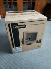 """NEW Vintage Compaq Color Computer Monitor 17"""" Retro Gaming w/speakers"""