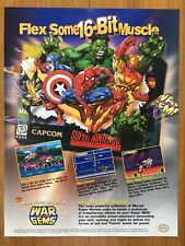 Marvel Super Heroes War of the Gems SNES Super Nintendo 1996 Poster Ad Art Print