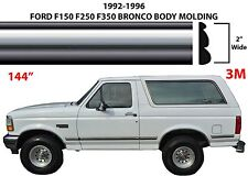 "144"" Chrome Body Side Molding For 1992-1996 Ford F150 F250 F350 Bronco New USA"