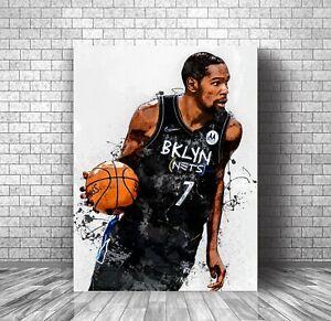 Kevin Durant Poster  Brooklyn Nets  KD Premium Wall Art  Print Decor, Great Gift