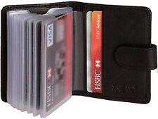 Leather Soft Black Leather Credit Card Holder Wallet