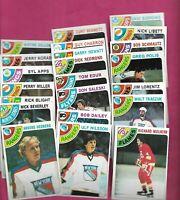 1978-79 TOPPS NHL PLAYERS  NRMT-MT  CARD LOT  (INV# C6192)