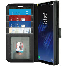 For Samsung Galaxy S9 Plus Leather Wallet Flip Stand Card Holder Case Cover