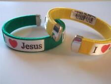 Assorted Color I Love Jesus - Jesus Love Me Bangle Bracelet (1 piece)