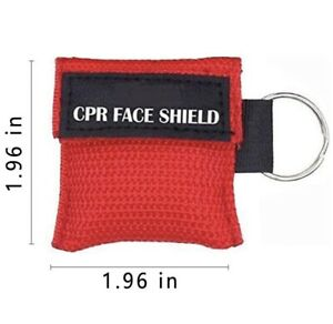 Ambu Res-Cue Key CPR Mask with Mini Keychain Pouch Red 100 Pack