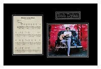 Bob Dylan Autographed Photograph Matted and Framed Ready to Hang
