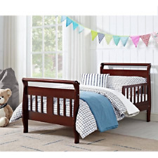 Childs Sleigh Bed Toddler Standard Crib Size Rails Boys Girls Bedroom Furniture