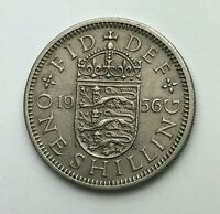 Dated : 1956 - One Shilling Coin - Queen Elizabeth II - Great Britain