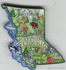 BRITISH COLUMBIA CANADA  ARTWOOD  MAP MAGNET VANCOUVER  VICTORIA  PRINCE GEORGE