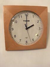 Convex Wooden Framed Vintage Clock