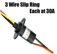HEAVY 3 PHASE WIND TURBINE GENERATOR SLIP RING 30 AMP PER CONDUCTOR / WIRE