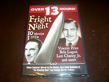 FRIGHT NIGHT Vincent Price Jack Nicholson Bela Lugosi Horror Ghost DVD SET NEW
