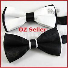 Stylish Fasion Men's Bowtie Men Tuxedo Bow Tie Pure Black & White Party Ball