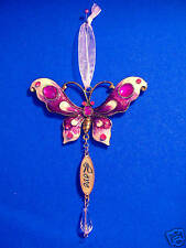 Hanging Butterfly - Love - Gold Plate.