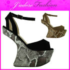 NEW LADIES HEEL LESS  ANKLE STRAPPY EVENING PEEP TOE PLATFORM SANDALS UK 3-8