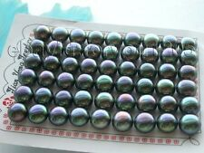 Wholesale 27pairs Genuine Natural 11mm Black Pearl Earrings!