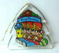 Acrylic Shaped Ornament Tree with Toy Soldiers MERRY CHRISTMAS 1981 VTG
