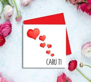 Santes Dwynwen Hapus Card Welsh Valentines Day Card Boyfriend Girlfriend Wife