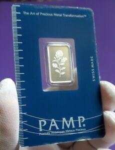 Pamp Suisse Rosa Rose Flower - 5 gram .999 Fine Silver Bar Ingot #C005033 Sealed