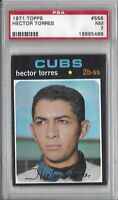1971 Topps baseball card #558 Hector Torres, Chicago Cubs graded PSA 7 NM