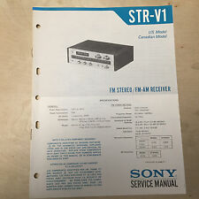 Sony Service Manual for the STR-V1 Receiver ~ Repair