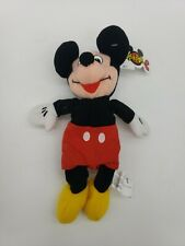 """New listing Disney Mickey Mouse Plush Beanbag Stuffed Play Toy Doll 9"""" 1998 Free Shipping"""