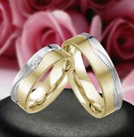 Gravur Gratis 2 Echt Silber 925 Trauringe Eheringe Verlobungsringe J310