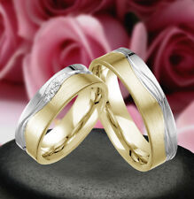 2 Echt Silber 925 Trauringe Eheringe Verlobungsringe , Gravur Gratis , J359-GW