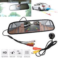360° Rotatable Vehicle Reversing Parking Camera + 4.3 Inch Mirror LCD Screen Kit