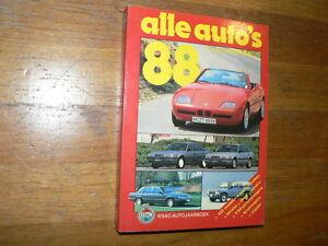1988 ALLE AUTO'S ALK BOOK ALL CAR MODELS DUTCH MARKET BMW,LANCIA,MAZDA,BITTER,MG