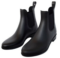 A New Day Women's ALEX Rain Boots Size 7, Black Ankle Boot, NEW IN BOX