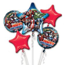 AVENGERS ASSEMBLE Foil Helium 5 BALLOON BOUQUET Birthday Party Decoration
