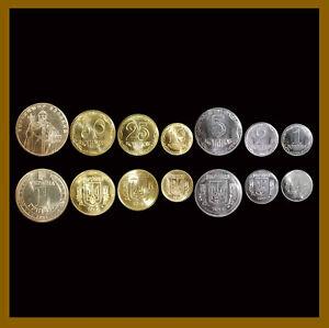 Ukraine 1 2 5 10 25 50 Kopiyok / kopeck 1 Hryvnia (7 Pcs Coin Set), 2012-2015