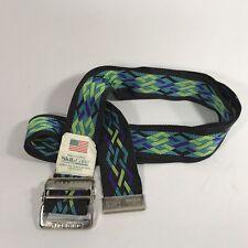"Skil-Care Geometric Pattern Gait Belt, 60"" Length Metal Buckle Belt Strap USA"