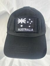 Black Tactical Operator Cap with Black ANF Patch
