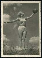 1937 Germany 3rd Reich Postcard German Hitler Gym Sports Beach Beauty Racy RPPC
