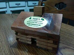 """medium LOG CABIN INCENSE BURNER Paine's 4""""x3.5""""x3.25"""" comes w/ 10 CEDAR CONES"""