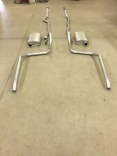 1965-1969 CHEVY BELAIR, BISCAYNE & IMPALA DUAL EXHAUST, 304 STAINLESS, 283 & 327