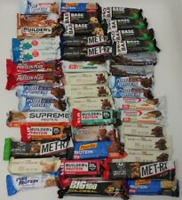 LOT of PROTEIN BARS Energy NUTRITION Variety PROTEIN PACKED MET-RX Clif Builder