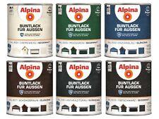 Alpina 750 ml Buntlack für Aussen Wetterschutz Farbwahl Seidenmatt / Glänzend
