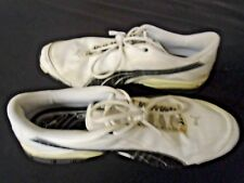 Mens Puma Classic Sneaker White Black Shoes Size 14 Used Running Fashion