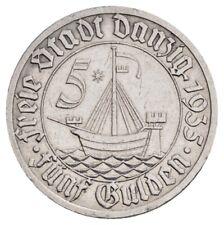 HMM - Danzig 5 Gulden 1935 Kogge J. D 19 Fast vorzüglich - 180213011
