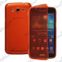 Housse Coque Etui Portefeuille Livre ROUGE Samsung Galaxy Grand 2 G7100 G7106
