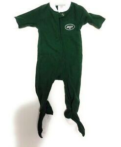 Infant Toddler Kids Boys NFL Team Apparel New York NY Jets Green 1 pc Pajamas