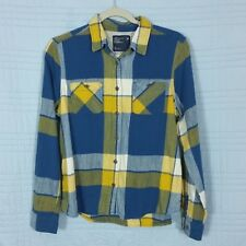 American Eagle Outfitters Womens Size 14 Blue Plaid Long Sleeve Flannel Top