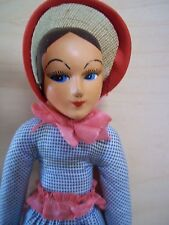 "Vintage Antique Composition + Cloth 9"" Doll - Rare!"