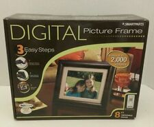 Smartparts Digital Picture Frame With Remote SP800 Real Walnut Frame