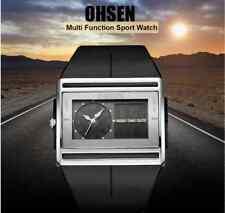 OHSEN Brand Digital Quartz Mens Fashion Sport Watch Wristwatch Dual Time Display