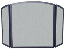 UniFlame 3-Panel Black Vintage Iron Screen with Continuous Arch 801573