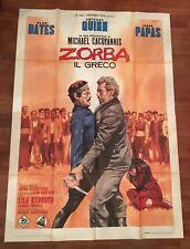 MANIFESTO,Zorba il greco  the Greek  Cacoyannis Anthony Quinn, Kazantzakis,Papas